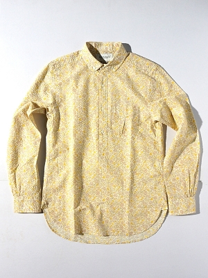 Eastlogue BD Collar Pullover Shirt - Yellow Flower