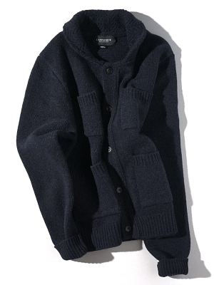 Eastlogue Shawl Collar Cardigan - Navy