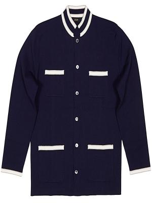 Jrium Lewes Nehru Knit Jacket - Navy