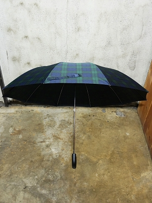 Fox Umbrellas TEL-1 Black Maple Wood Tartan