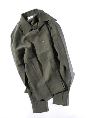 Unitus Open Collared Shirts - Olive