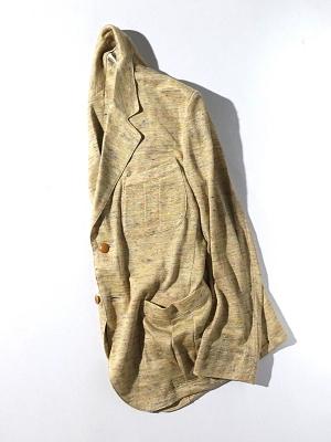 Haversack Attire Linen Colornep Plain Stitch Jacket