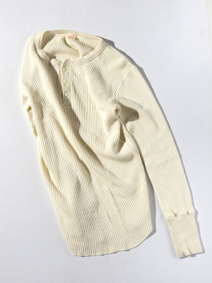 Patchii Retro New Henley Neck - Off White