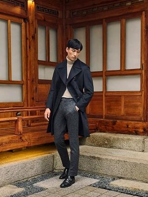 GOTT Travel Trousers Lazist -  Dark Gray Houndtooth