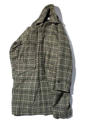 Eastlogue Balmacaan Coat - Beige Black Check