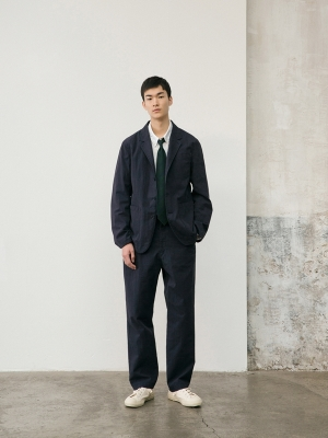 Pottery Washed Sports Jacket - Navy