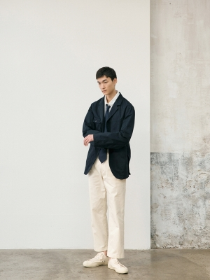 Pottery Washed Chino Pants - Ecru