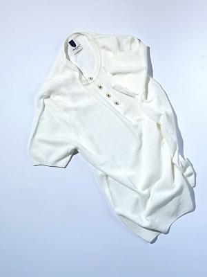 Mc Lauren Girk Henley Neck Knit - White