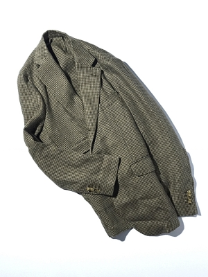 Man 1924 Kennedy Jacket 1903 - Khaki Houndstooth