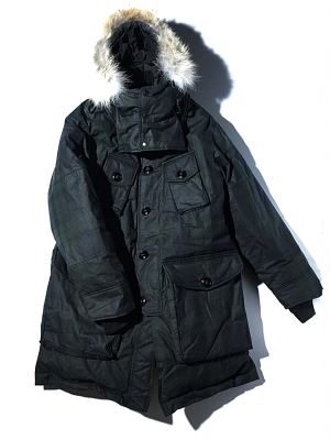 Eastlogue ECW Down Parka - Black Watch Wax