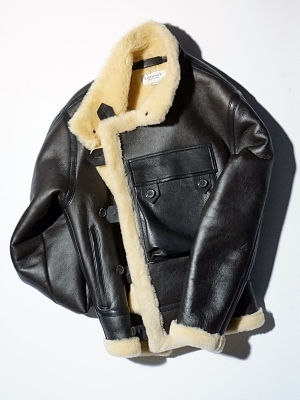 Eastlogue Shearling Motorcycle Jumper - Black Sheep Skin