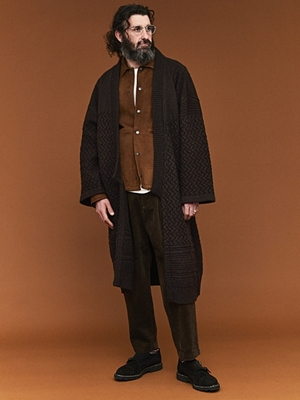 Yashiki Tsukimi Knit Coat -Brown