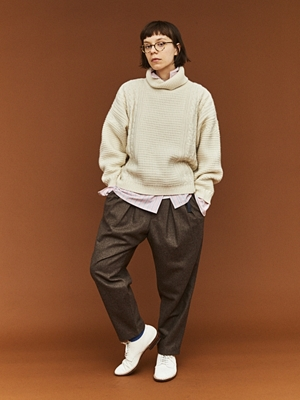 Sayatomo Hakama Herringbone Pants - Black