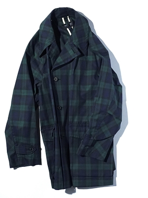 Eastlogue Officer Coat - Black Watch Check