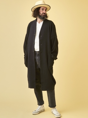 Yashiki Hanagumori Knit Coat -Black