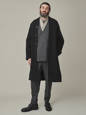 Yashiki Botayuki Knit Coat -Black
